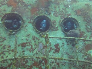 Diving Team Inside the Wreck